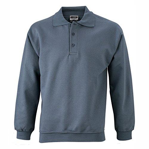amp; shirt Carbone Polo Nicholson Manches James Sweat Longues dwtdB