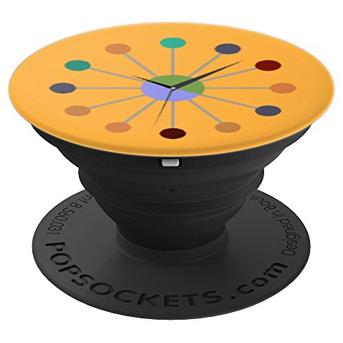 Mid Century Modern Clock – PopSockets Grip and