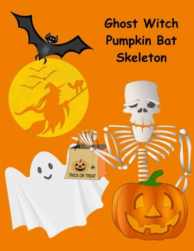Ghost Witch Pumpkin Bat Skeleton: 130 Spooky Drawing & Writing Prompts for Kids (NannyChicks Books Drawing Prompts for Kids) (Volume 2)