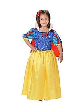 DISBACANAL Disfraz Blancanieves niña - con luz de Fibra optica, 4 ...
