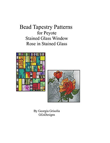 Bead Tapestry Patterns  for Peyote Stained Glass Window Rose in Stained glass
