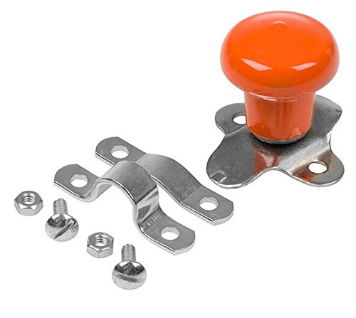 (WSV125OR Orange Shallow / Deep Steering Wheel Spinner for Kubota Tractor Models)