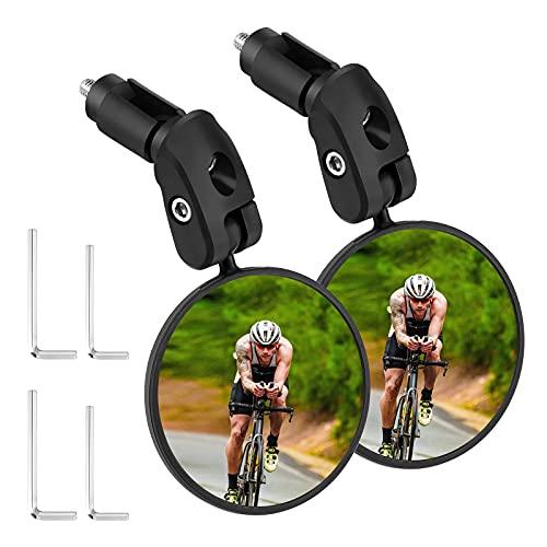 2 espejos retrovisores para bicicleta giratorio 360