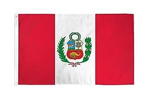 2x 3bandera de Perú peruano bandera gallardete de país de América del Sur al aire libre 24x 36