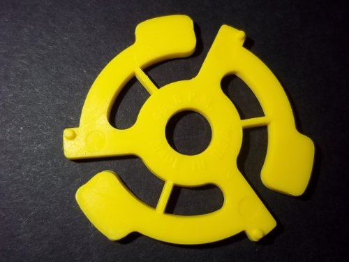 30 - 7inch Record - ADAPTERS - Yellow Plastic - nonslip center spindle inserts vinyl 7