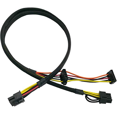 Hewlett Packard Pcie Motherboard - COMeap Motherboard 10 Pin to PCI-E 8 Pin(6+2) SATA IDE Molex Power Adapter Cable Compatible with HP DL380 G6 G7 Server 25-in(63.5cm)