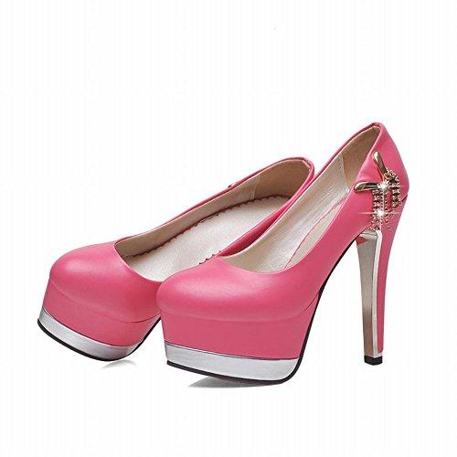 Mee Shoes Damen high heels Plateau Strass Pumps Rosa