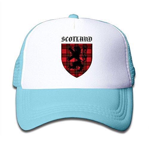 - KJAii7Z-id Plaid Lion Of Scotland Boy & Girl Baseball Caps Mesh Hats Fashion Trucker Caps