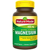 Nature Made Extra Strength Magnesium 400 mg Softgels, 60 Count (Packaging May Vary)