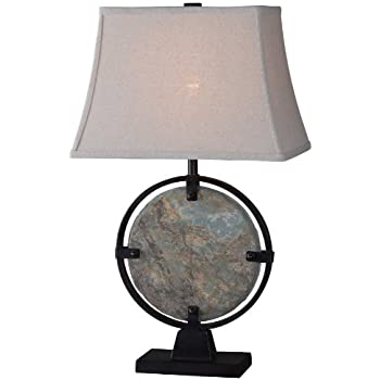 Kenroy Home 32226SL Suspension Table Lamp, Natural Slate