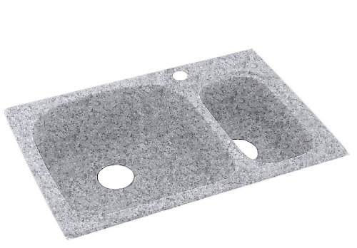 Swanstone Ksls 3322 042 33 Inch By 22 Inch Large Small Bowl Kitchen Sink  Gray Granite
