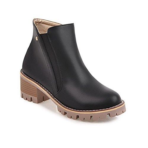 Platform Retro Womens Urethane Slip Black BalaMasa ABL09946 Boots Resistant EqfB5dx