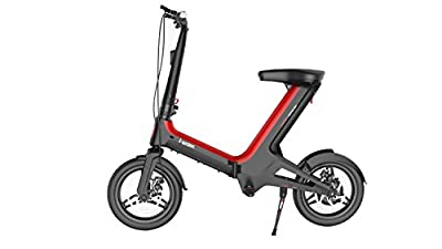 Foldable Electric Scooter With Seat | Commuter Bike For Adults | 7.8Ah Lithium Battery | 350W Brushless Motor | 23 Miles Range - 16 MPH Top Speed | Eco-Friendly | Recyclable Magnesium Alloy Body