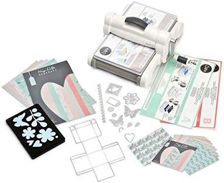Big Shot Plus On A4 Starter Kit Gris, Sizzix, repujado, papel de scrapbooking