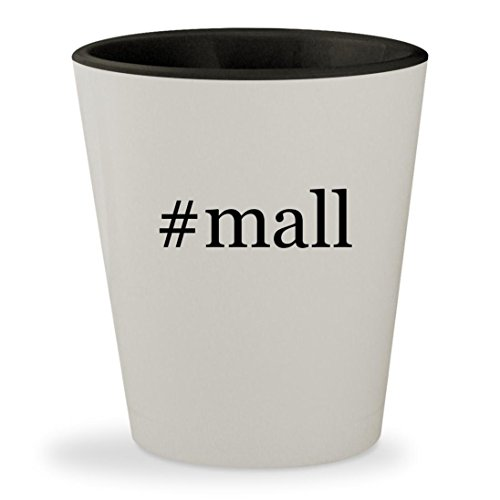 #mall - Hashtag White Outer & Black Inner Ceramic 1.5oz Shot - Mall Outlets Tanger