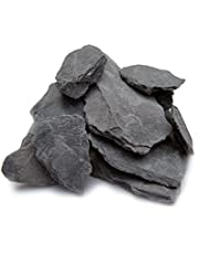 Natural Slate Stone -1 to 3 inch Rocks for Miniature or Fairy Garden, Aquarium, Model Railroad & Wargaming (5lb)