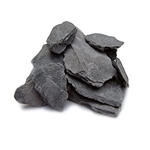 Natural Slate Stone -1 to 3 inch Rocks for Miniature or Fairy Garden, Aquarium, Model Railroad & Wargaming 2lbs 81