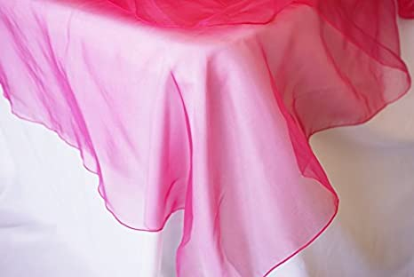Wedding Linens Inc. 90' Round Organza Sheer Table Overlays Toppers Tablecloths Organza Table Topper Covers Linens for Wedding Party Decoration Banquet Events - BLUSH PINK