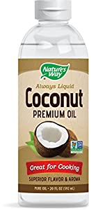 Nature's Way Coconut Premium Oil Great for Cooking, 20 Fl Oz., 20 Fluid Ounce