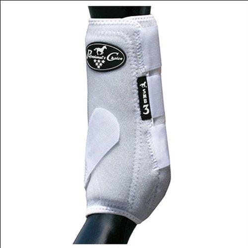(Professionals Choice Equine Neoprene Sports Medicine Leg Boot, Pair (Medium, White))