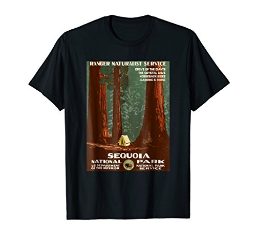 1938 Sequoia National Park Wilderness Nature T Shirt (100 Best Print Ads Of All Time)
