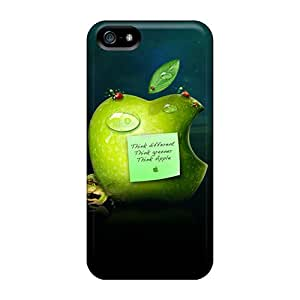 EnFrcso3372LpNva Think Green Fashion Tpu 5/5s Case Cover For Iphone