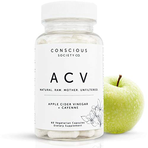 Organic Apple Cider Vinegar Capsules with The Mother + Cayenne Pepper