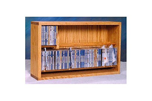 24.25 in. Dowel CD Storage Rack (Clear) by Wood Shed