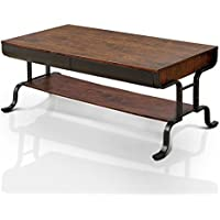 HOMES: Inside + Out IDF-4452C Jackson Coffee Table, Antique Oak
