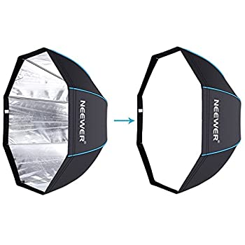 Neewer 31.5 Inches 80 Centimeters Portable Octagonal Umbrella Softbox For Studio Flash, Speedlite, With White Diffuser & Carrying Bag For Portrait Product Photography (Blackblue) 4