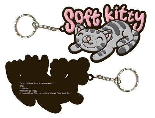 The Big Bang Theory Soft Kitty Die Cut Key Ring Keychain