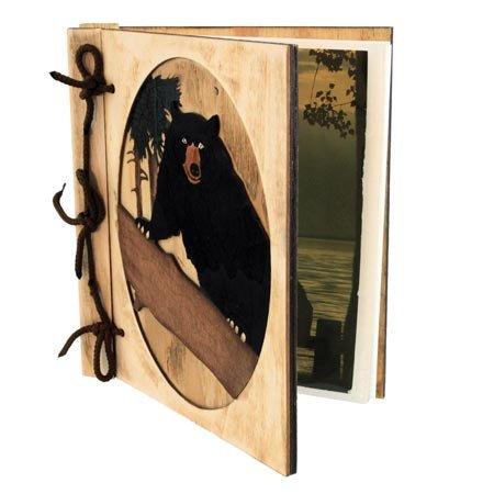 (Rustic Wooden Bear Scene 36 Picture Photo Album, 5x7,)