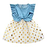 Best Girl Gifts 2 Years Olds - Girls Dress, Princess Dresses Sleeveless Denim Tops Floral Review