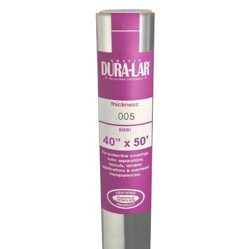 - Grafix Clear 0.005 Dura-Lar Film Roll, 40-Inch by 50-Inch