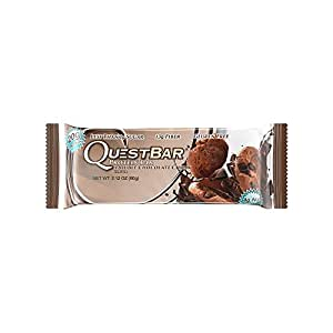 Quest Nutrition Protein Bar, Double Chocolate Chunk, 20g Protein, 4g Net Carbs, 180 Cals, High Protein Bars, Low Carb Bars, Gluten Free, Soy Free, 2.1 oz Bar, 12 Count
