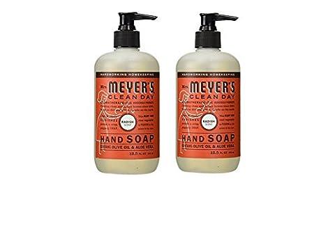 Mrs Meyers Hand Soap Radish 12.5 Ounce Pump (370ml) (2 Pack) (Meyers Hand Soap Radish)