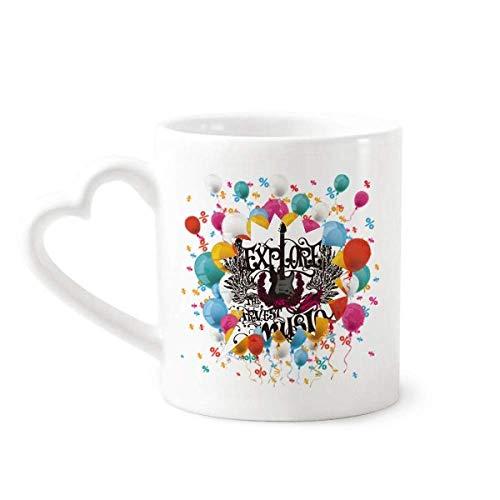 Explore uoThe Harvest Rock Music Festival Balloon Mug Coffee Cup Pottery Ceramic Heart Handle ()