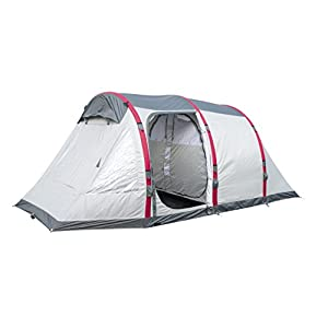 Pavillo Unisex's BW68078 Bestway Sierra Ridge Air Pro 4 Man Inflatable Camping Tent, Grey, 4 Person