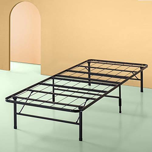 Sleep Master Platform Metal Bed Frame/Foundation Set(SmartBase Metal Brackets for Headboard/ Footboard Attachment Bed Skirt - TWIN XL) - Best for Spring, Latex, Memory Foam Mattresses (Renewed)