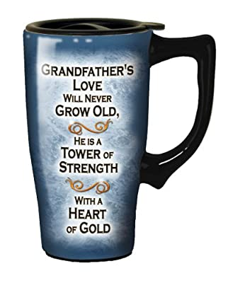 Spoontiques Grandfathers Love Travel Mug, Blue