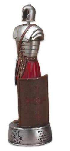 10 Inch Full Armor Of God Ephesians 6 Soldier Resin Stone
