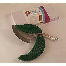 10cm Leaf Stainless Steel Folding Pocket Keychain Knife - Sharp Compact