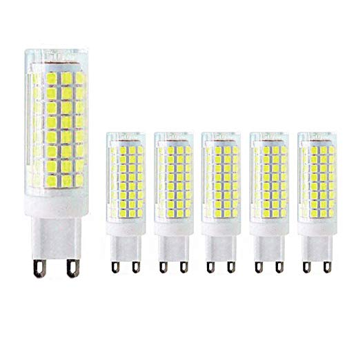 MD Lighting G9 LED Bulb 10W LED Corn Light Bulbs(6 Pack)- G9 Ceramic Bulbs Replacement 80W Equivalent Halogen Bulbs Daylight White 6000K G9 LED Bulbs for Home Lighting, Ceiling Fan, Dimmable, AC120V