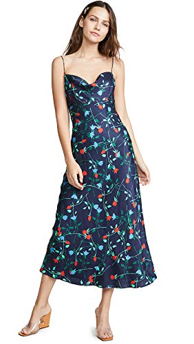(C/Meo Collective Women's Sectional Midi Dress, Navy Floral, Small)