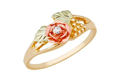 - Black Hills Gold Diamond Leaf Ring