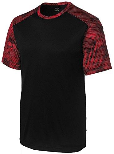Joe's USA(tm) Mens CamoHex Athletic Shirt-Black/ Deep - Usa 51