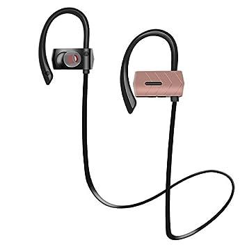 ZXzz Auricular inalámbrico de los Auriculares Bluetooth del Deporte para el teléfono Móvil Auricular bajo de Bluetooth con el micrófono para iPhone Xiaomi ...