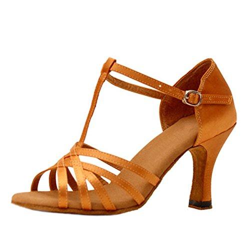 danse Apricot color danse Tango Cadeaux Dance 43 latine femmes YFF 7CM chaussures Dance qIUtxPv1Zw