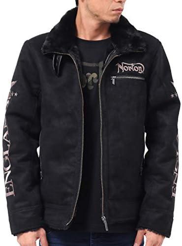 ジャケット 袖ロゴ フェイクムートン 193N1701