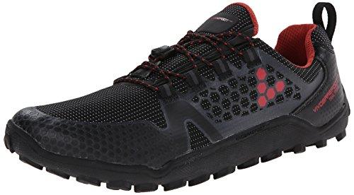 Vivobarefoot Men's Freak Trail Running Shoe, Black/Red, 44 EU/10.5-11 M US